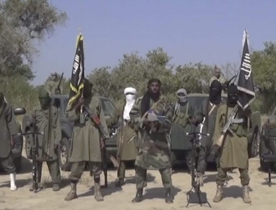 Des combattants du groupe terroriste Boko Haram.... (PHOTO ARCHIVES AP)