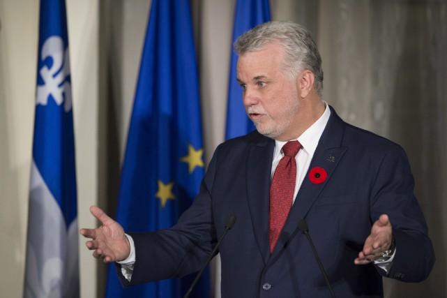 Le premier ministre Philippe Couillard a affirmé que... (La Presse Canadienne, Jacques Boissinot)
