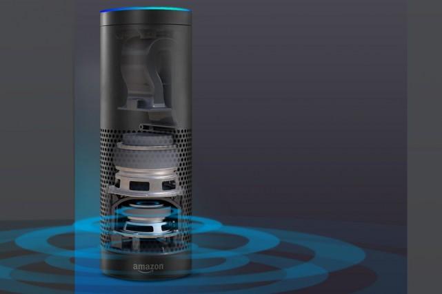 Amazon Echo est équipé de 7 microphones pour... (Image tirée du site internet)