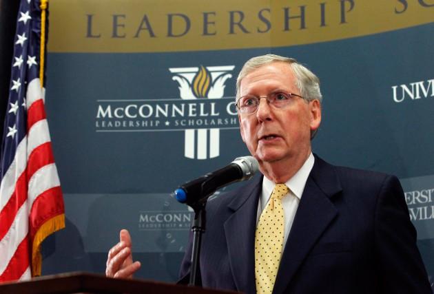 Le sénateur Mitch McConnell, qui sera le leader... (Photo Jim Sommers, Reuters)