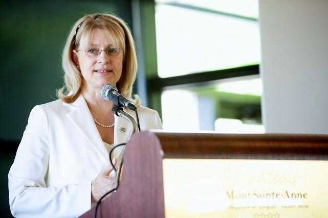 La présidente de Solidarité rurale, Claire Bolduc, refuse... (Photo fournie par Solidarité rurale)