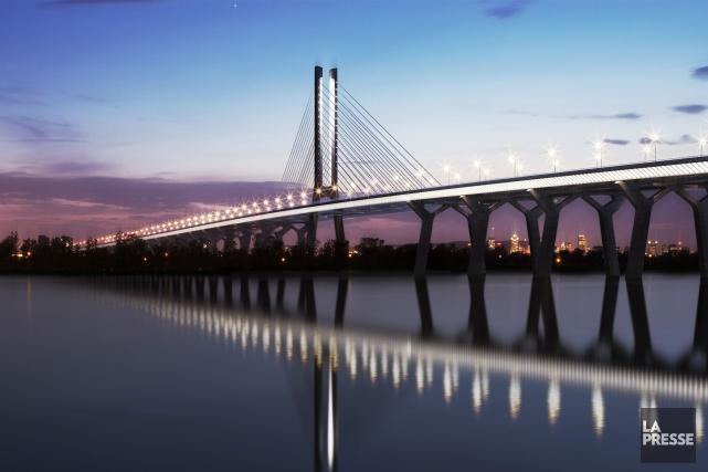 Ce pont, pour nous situé à l'extrémité de l'autoroute 10, nous l'appellerons... (Archives La Presse)