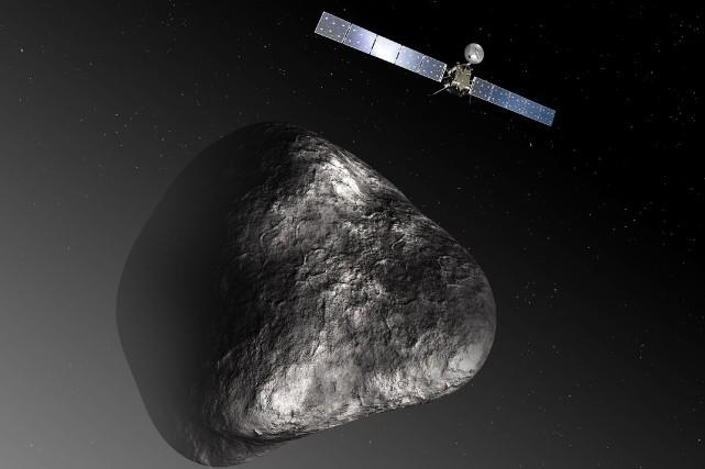Rosetta l'a échappé belle: la sonde européenne a rencontré de sérieuses... (PHOTO C. CARREAU / MEDIALAB, AFP)