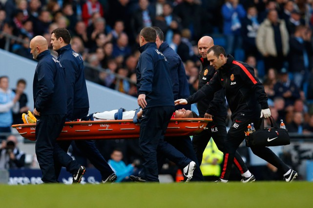 Le défenseur de Manchester United Marcos Rojo a... (Photo Andrew Yates, Reuters)