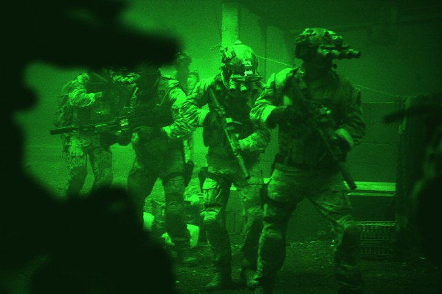 L'assaut des Navy SEAL contre la villa d'Abbottabad,... (PHOTO TIRÉE DU FILM ZERO DARK THIRTY)