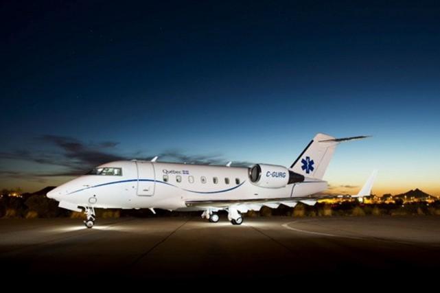 Dévoilé cet été, l'avion - qui aurait été... (Photo fournie par le CHU de Québec)
