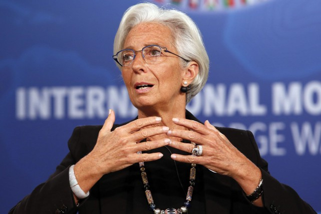 La directrice du FMI, Christine Lagarde... (Photo Yuri Gripas, Reuters)