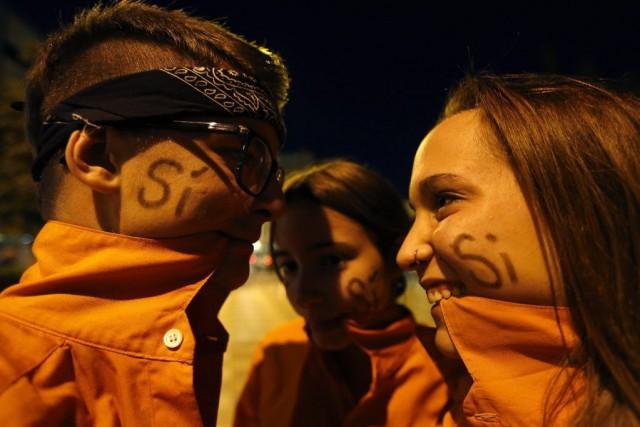 À l'appel du gouvernement catalan d'Artur Mas, les... (PHOTO GUSTAU NACARINO, REUTERS)