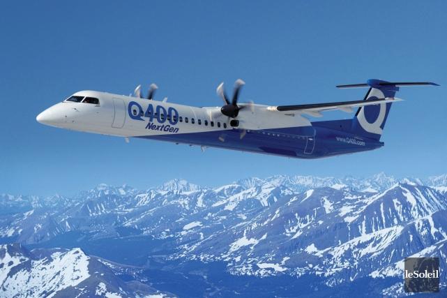 Un Bombardier Q400... (Photothèque Le Soleil)