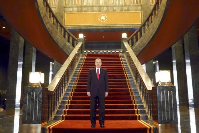 Inauguré à l'automne dernier, le nouveau palais présidentiel,... (PHOTO ADEM ALTAN, ARCHIVES AFP)
