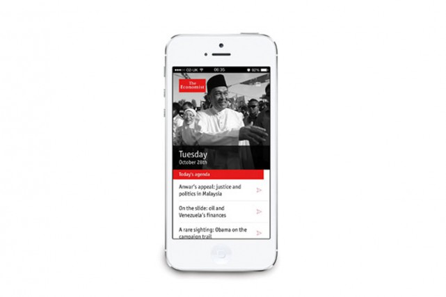 L'hebdomadaire britanniqueThe Economista lancé vendredi un service... (IMAGE ECONOMIST.COM)