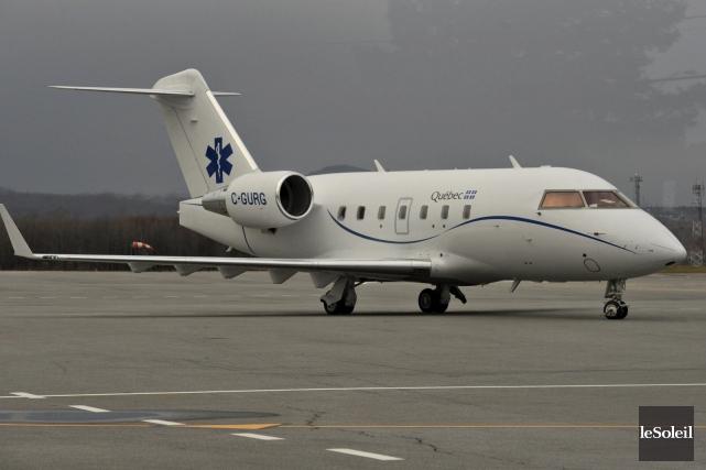 Dévoilé cet été, l'avion-hôpital - qui aurait été... (Le Soleil, Patrice Laroche)