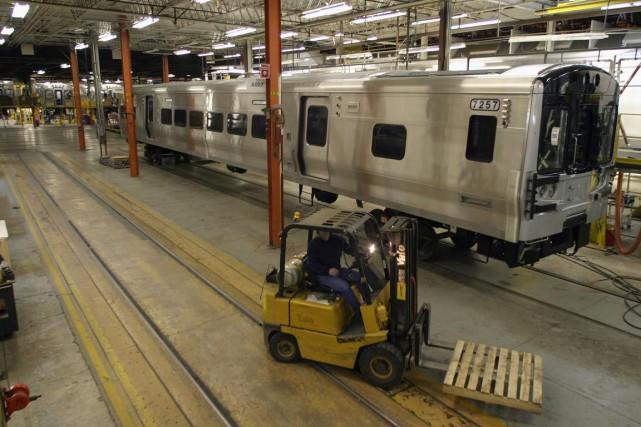 L'usine Bombardier à La Pocatière.... (PHOTO JACQUES BOISSINOT, ARCHIVES PC)