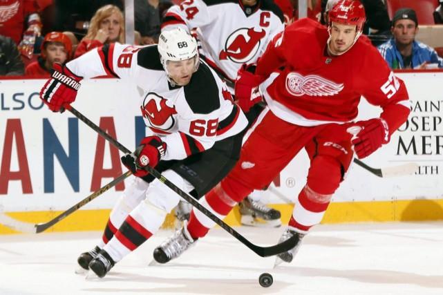 Niklas Kronwall a marqué sur un rebond chanceux et les Red Wings de Detroit ont... (Photo AP)