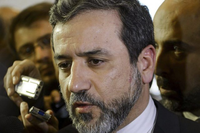 Abbas Araghchi, le négociateur en chef de l'Iran... (PHOTO FABRICE COFFRINI, ARCHIVES AFP)