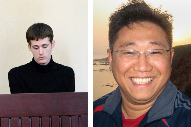 Matthew Todd Miller et Kenneth Bae... (Photos AFP)