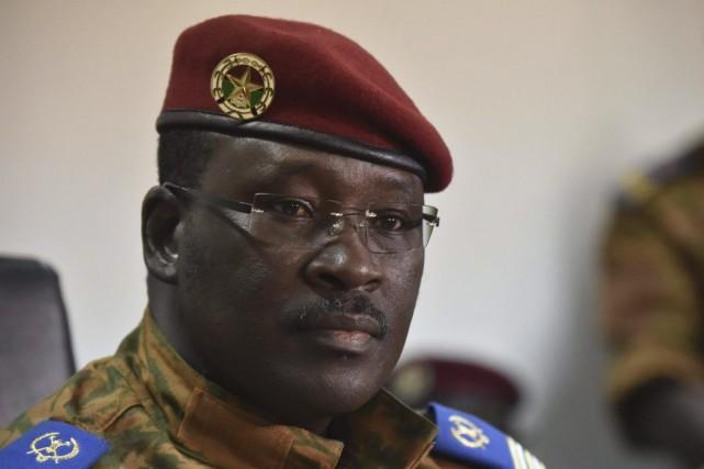 Le lieutenant-colonel Isaac Zida, actuel homme fort du... (PHOTO ISSOUF SANOGO, AFP)