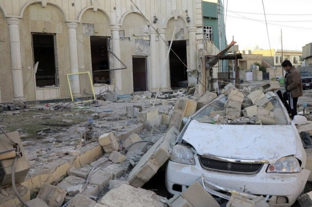 La ville de Ramadi a été bombardée le... (Photo Ali al-Mashhadani, Reuters)