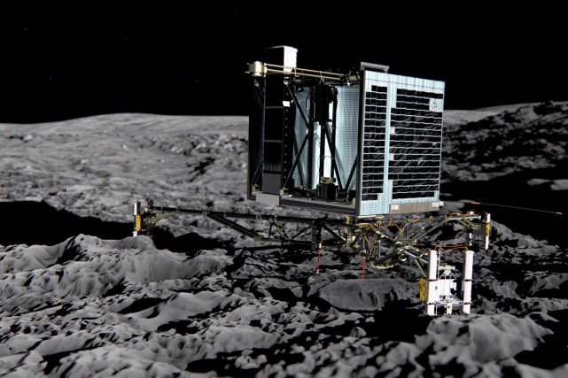 Le module Philae... (ILLUSTRATION AFP / ESA MEDIALAB)