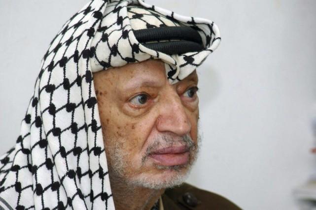 L'ancien leader palestinien Yasser Arafat photographié en 2004,... (PHOTO HUSSEIN HUSSEIN, ARCHIVES AFP)