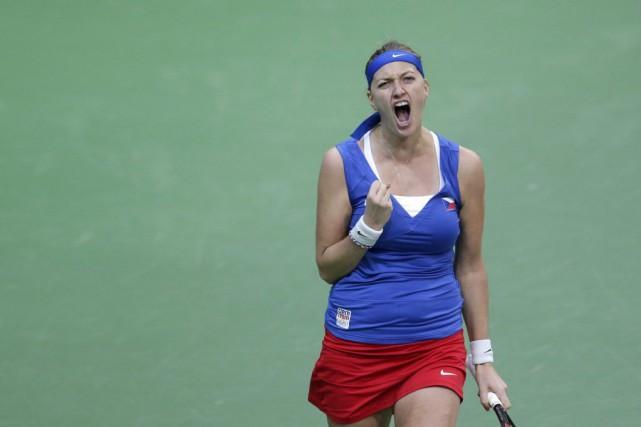 Petra Kvitova a remporté la victoire décisive pour... (PHOTO PETR DAVID JOSEK, AP)