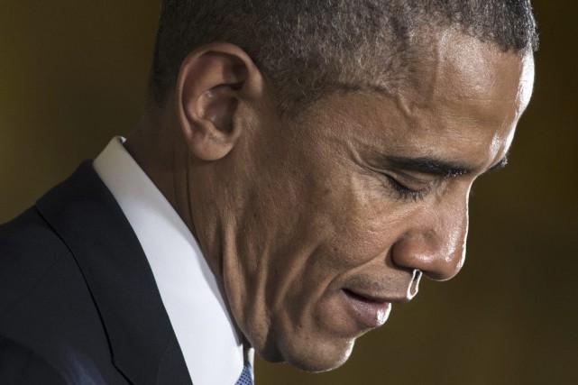 Six ans après son élection triomphale à la... (PHOTO BRENDAN SMIALOWSKI, AFP)