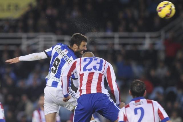 L'Atletico Madrid, réduit à dix, a calé dimanche devant la Real Sociedad (2-1)... (Photo: AFP)