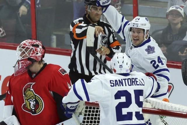 Peter Holland a inscrit un but et amassé une aide et les Maple Leafs de Toronto... (Photo: PC)