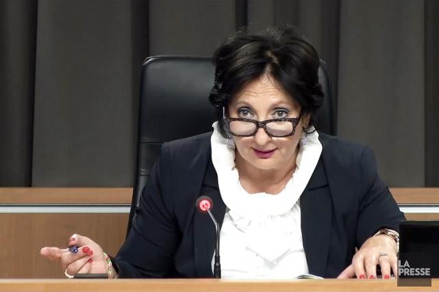 La commission présidée par la juge France Charbonneau... (IMAGE TIRÉE D'UNE VIDÉO, LA PRESSE)