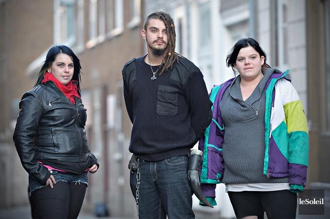 Kathleen, Dave et Mélanie, trois jeunes qui fréquentent... (Le Soleil, Pascal Ratthé)