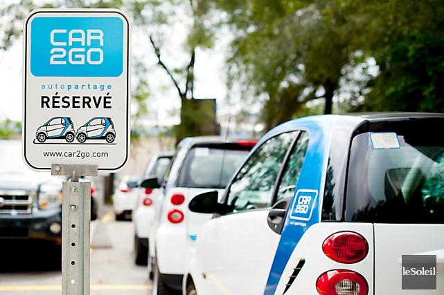 À Montréal, Car2Go a réussi à obtenir des... (Photothèque Le Soleil)