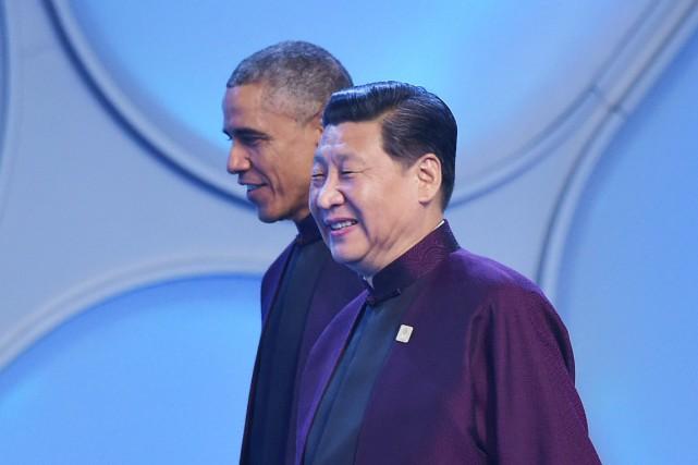 Le président Obama et son homologue chinois, Xi... (PHOTO MANDEL NGAN, AFP)