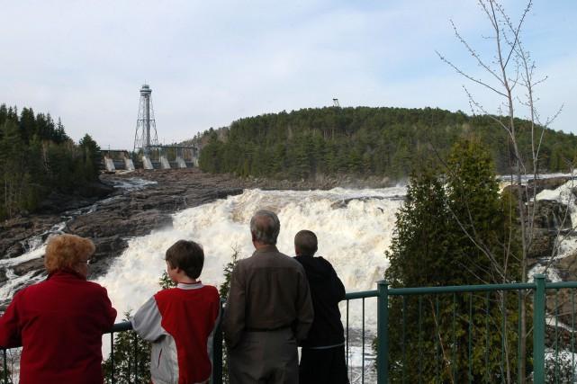 Avec des dénivellations d'une telle ampleur, la rivière... (Photo: Archives)