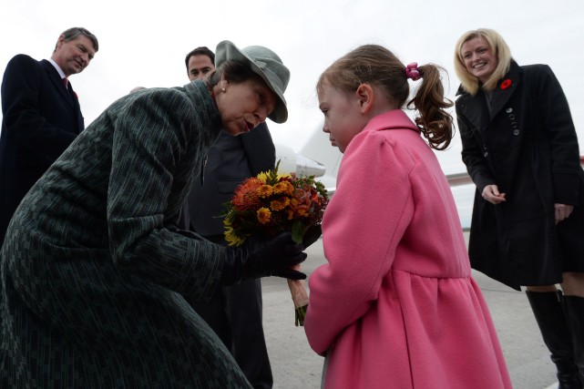 La princesse Anne a été accueillie à Rideau... (Photo Sean Kilpatrick, PC)
