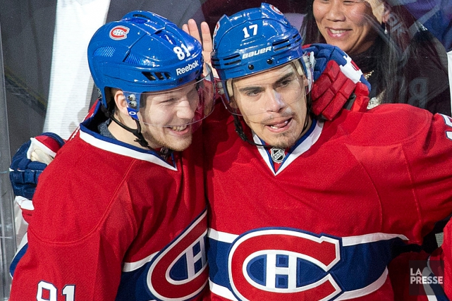Lars Eller et Rene Bourque ont connu du... (Photo Robert Skinner, archives La Presse)
