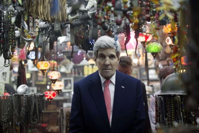 Le secrétaire d'État américain John Kerry a visité... (Photo: AFP)