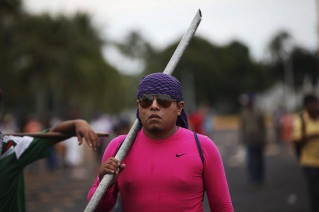 La manifestation de colère, qui fait suite à... (Photo: AP)