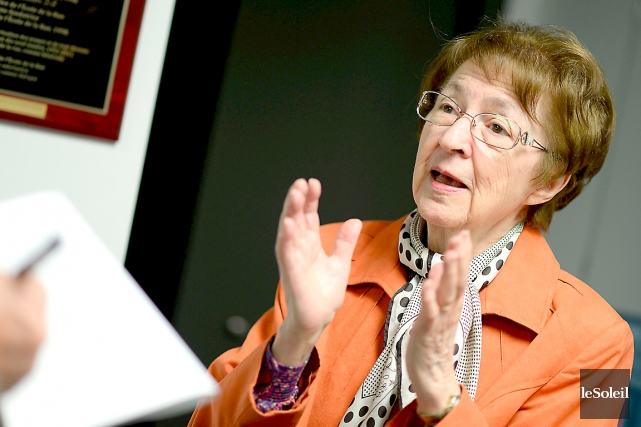 À 86 ans bien sonnés, soeur Cécile Girard... (Le Soleil, Erick Labbé)