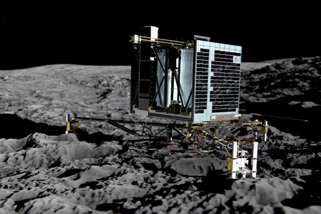 Le largage par Rosetta de Philae, un robot laboratoire de 100... (Photo: AFP)