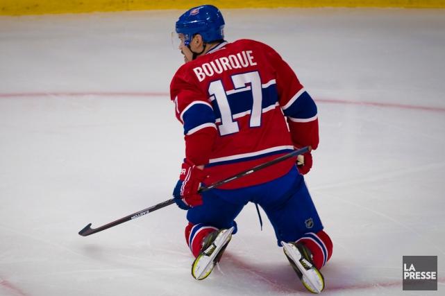 Le numéro 17 de Rene Bourque n'était pas... (Photo André Pichette, La Presse)