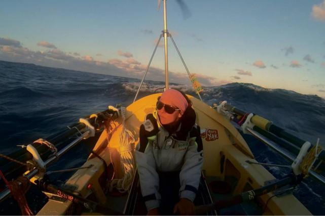 Mylène Paquette, devenue l'an dernier la première femme nord-américaine à... (Photo: Mar Y Sol, tirée du livre)