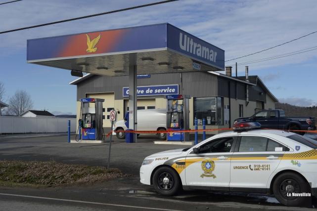 La station-service Ultramar, située sur la route 153 à Saint-Tite, a été la... (Photo: Sylvain Mayer, Le Nouvelliste)