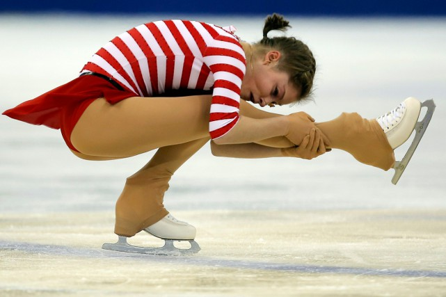 La patineuse Julia Lipnitskaia, l'une des vedettes sportives... (Photo Carlos Barria, Reuters)
