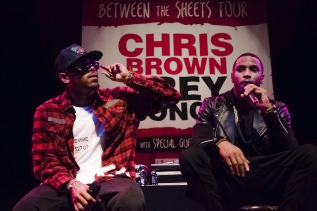 Chris Brown et Trey Songz... (Photo: AP)