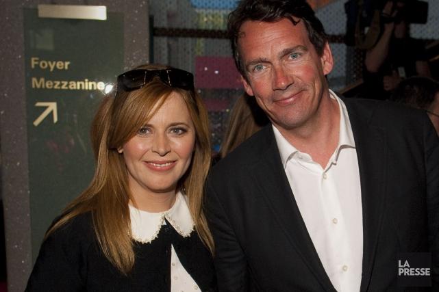 Julie Snyder et Pierre Karl Péladeau... (Photothèque La Presse)