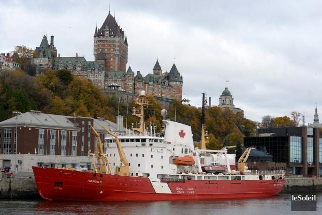 La Garde côtière à Québec... (Photothèque Le Soleil, Erick Labbé)