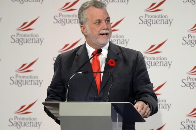 Philippe Couillard, premier ministre du Québec.... ((Photo Jeannot Lévesque))