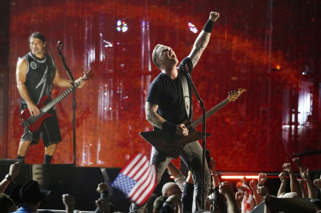 Bruce Springsteen, Rihanna, Eminem et Metallica (photo), entre autres,... (Photo Reuters)