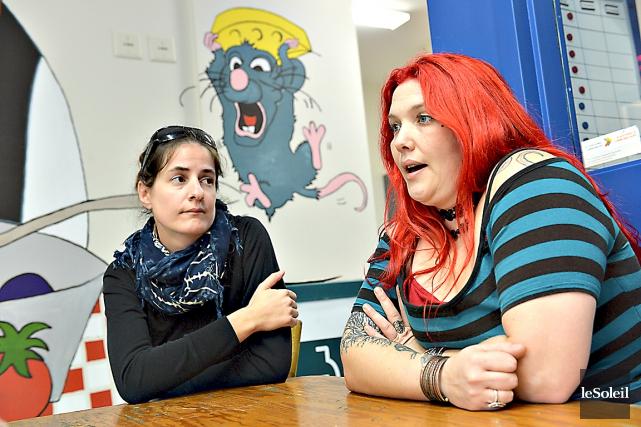 Véronique Girard (à gauche) et Marie-Soleil Bruyère sont... (Le Soleil, Patrice Laroche)