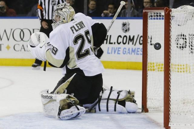 Les Penguins (10-3-1), qui concluront un voyage de... (Photo AP)